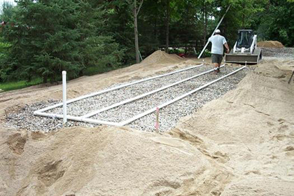 residential mound septic system